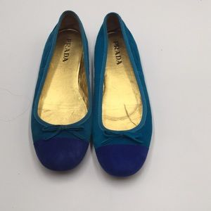 PRADA SUADE SHOES. SIZE 6 USA